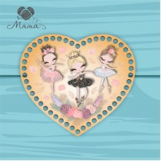Heart 21cm TsP21№32 Three ballet dancers