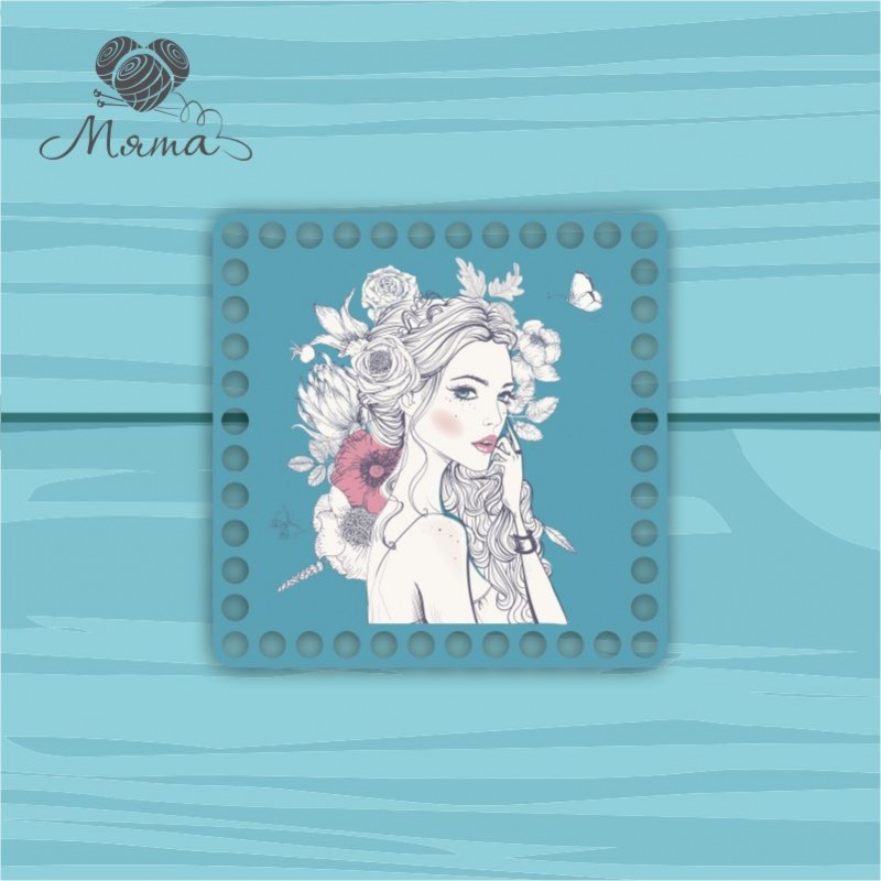 Square 15*15cm CP15 №110 Girl in flowers