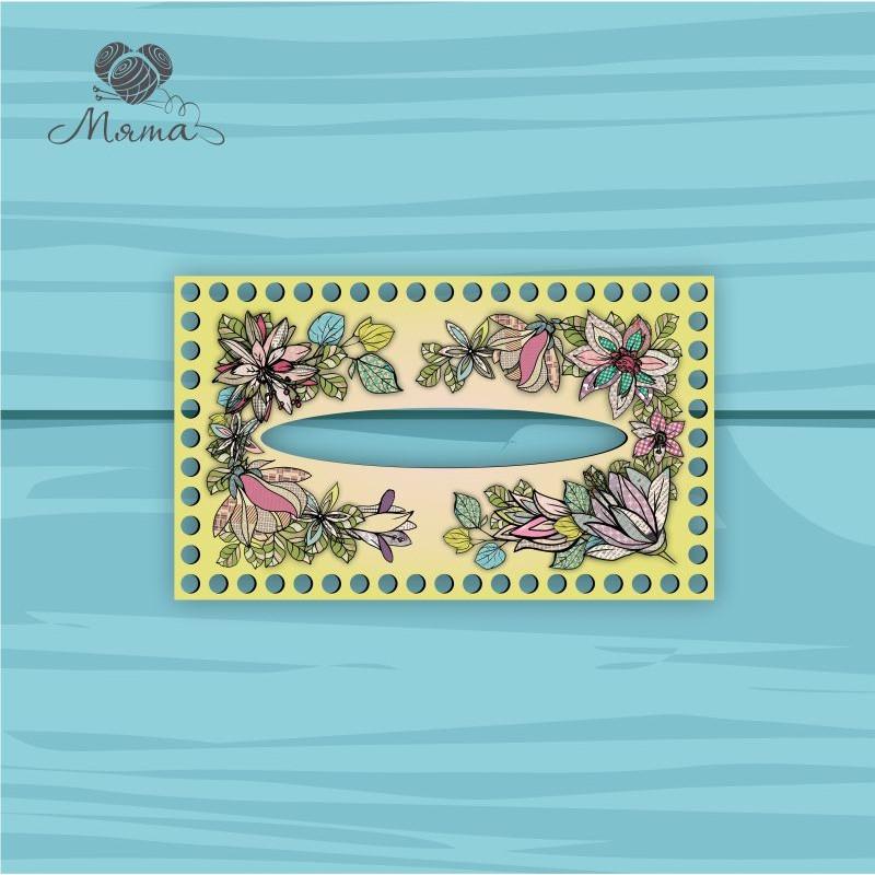 Napkin holder 25 * 15 cm TsP25_15№51 Flowers yellow