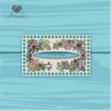 Napkin holder 25*15 cm CP25_15№52 Flowers turquoise