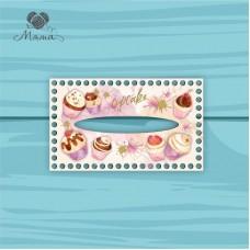 Napkin holder 25 * 15 cm Cup25_15№53 Cupcakes