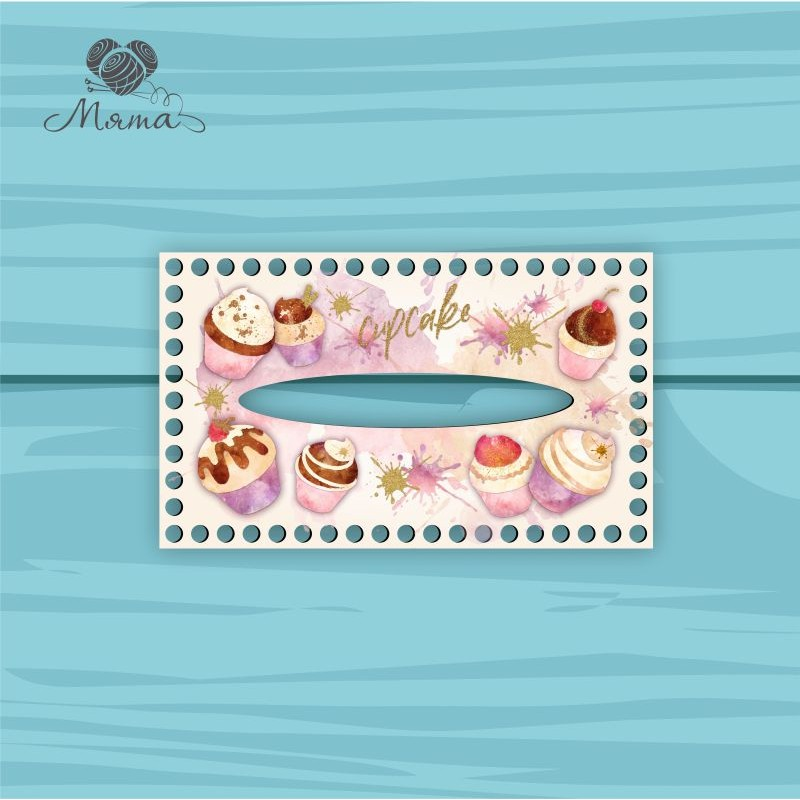 Napkin holder 25 * 15 cm Cup25_15№53 Cupcakes