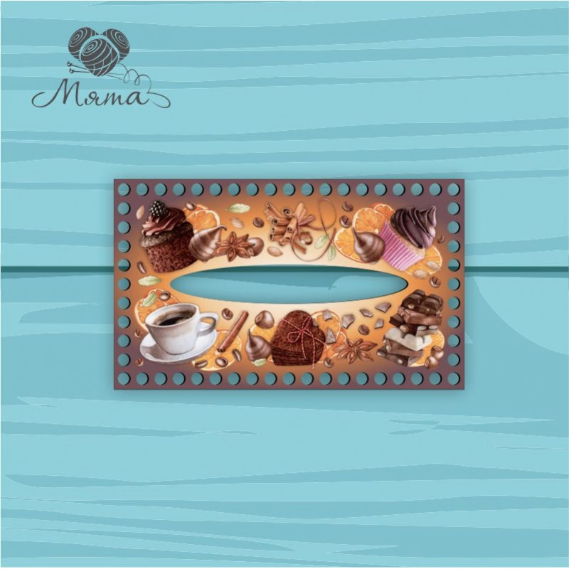 Napkin holder 25*15 cm CP25_15№151 Coffee dark
