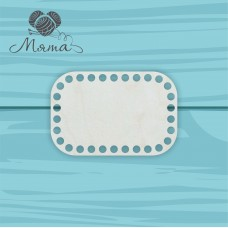 Rectangle with rounded edges 15cm*10 cm without engraving