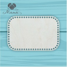 Rectangle with slightly rounded edges 30cm*20cm without engraving