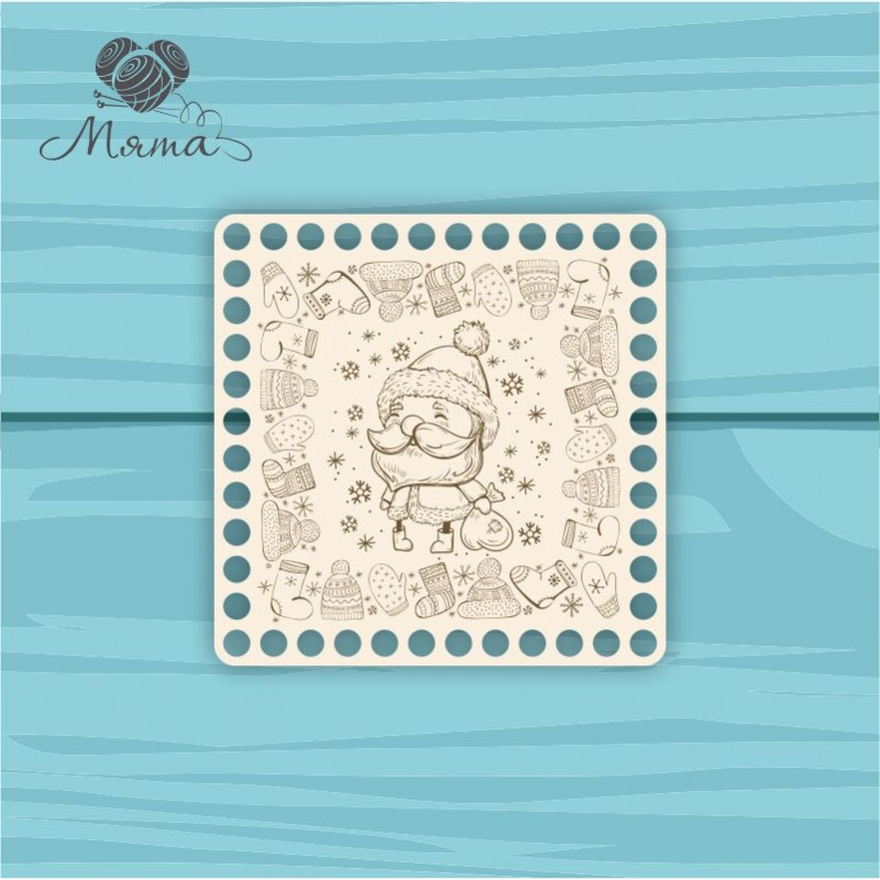 square 15*15 cm NG№11 with Christmas engraving