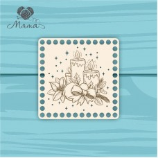 square 15*15 cm NG№13 with Christmas engraving