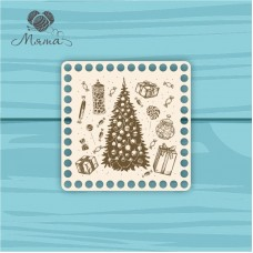 square 15*15 cm NG№3 with Christmas engraving