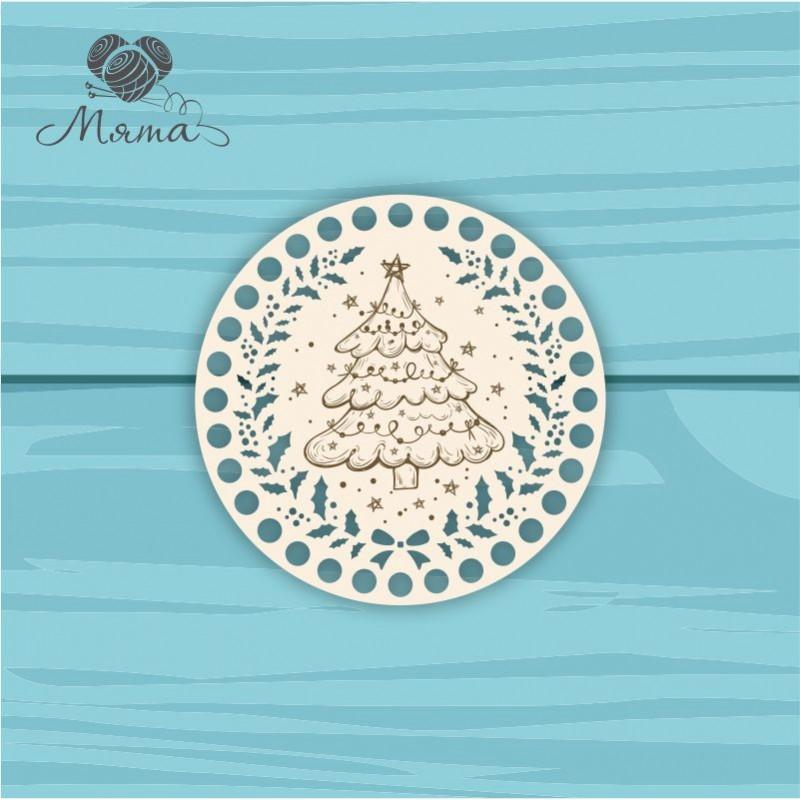 Circle d=15 cm NG№10 with Christmas engraving