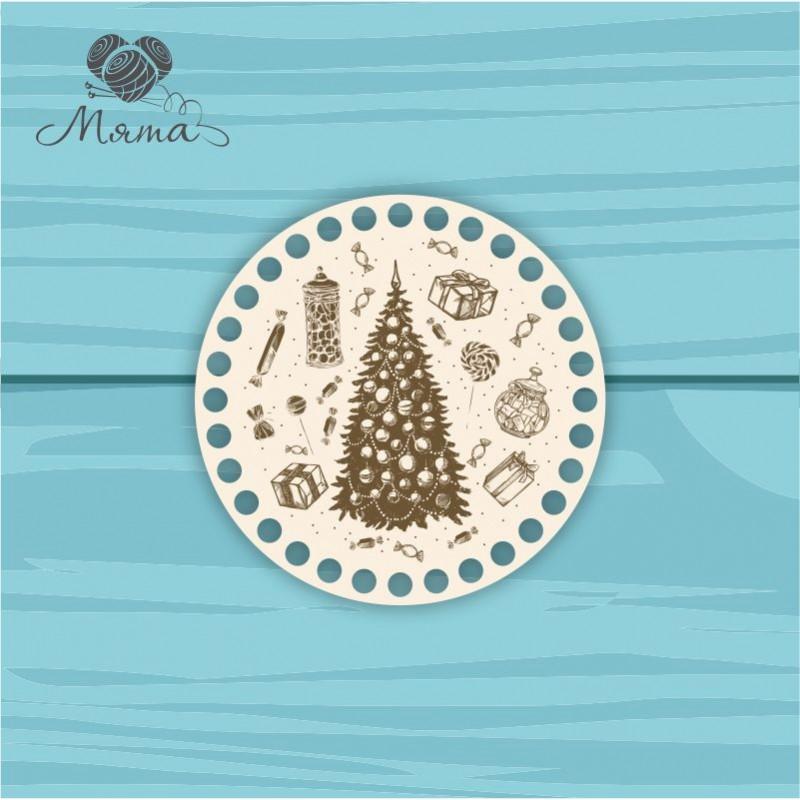 Circle d=15 cm NG№3 with Christmas engraving