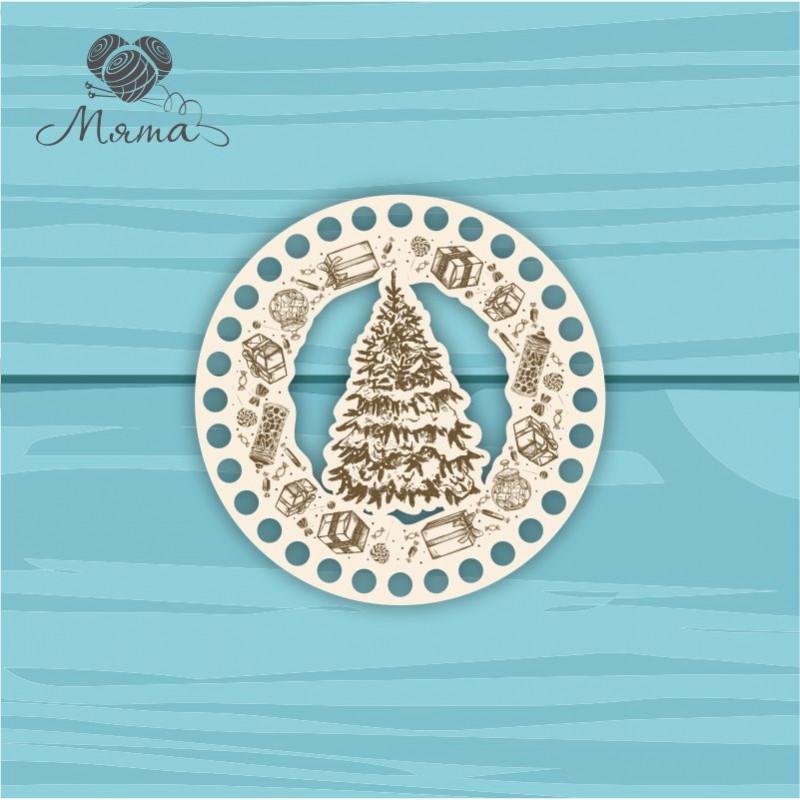 Circle d=15 cm NG№9 with Christmas engraving