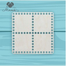 Square 20cm*20cm without engraving 4 sections