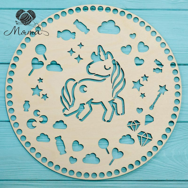 Circle carved D=30cm №1 (unicorn)