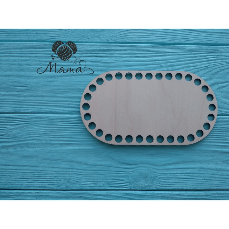 Rectangle with rounded edges 17.5 cm*9.5 cm without engraving