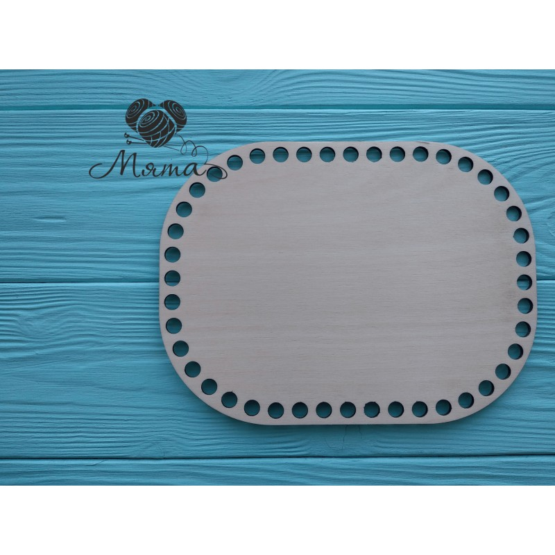 Rectangle with rounded edges 20cm*15 cm without engraving