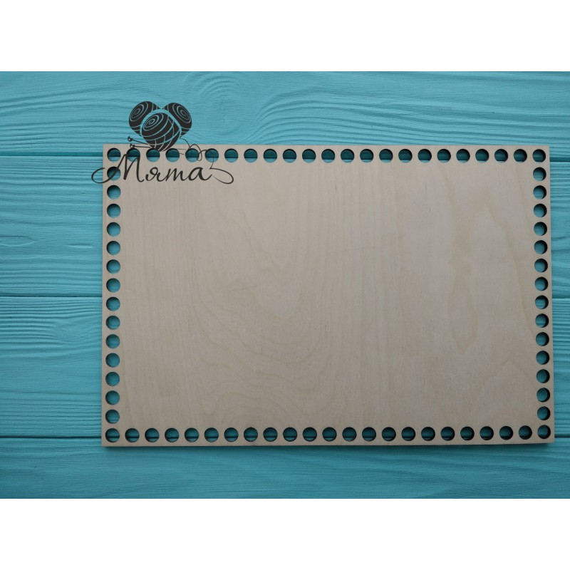 Wooden bottoms for baskets-Rectangle 30cm*20cm without engraving
