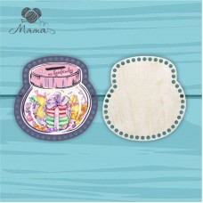 Moneybox with color print 20cm ЦП20№82 Candy (lid + bottom)