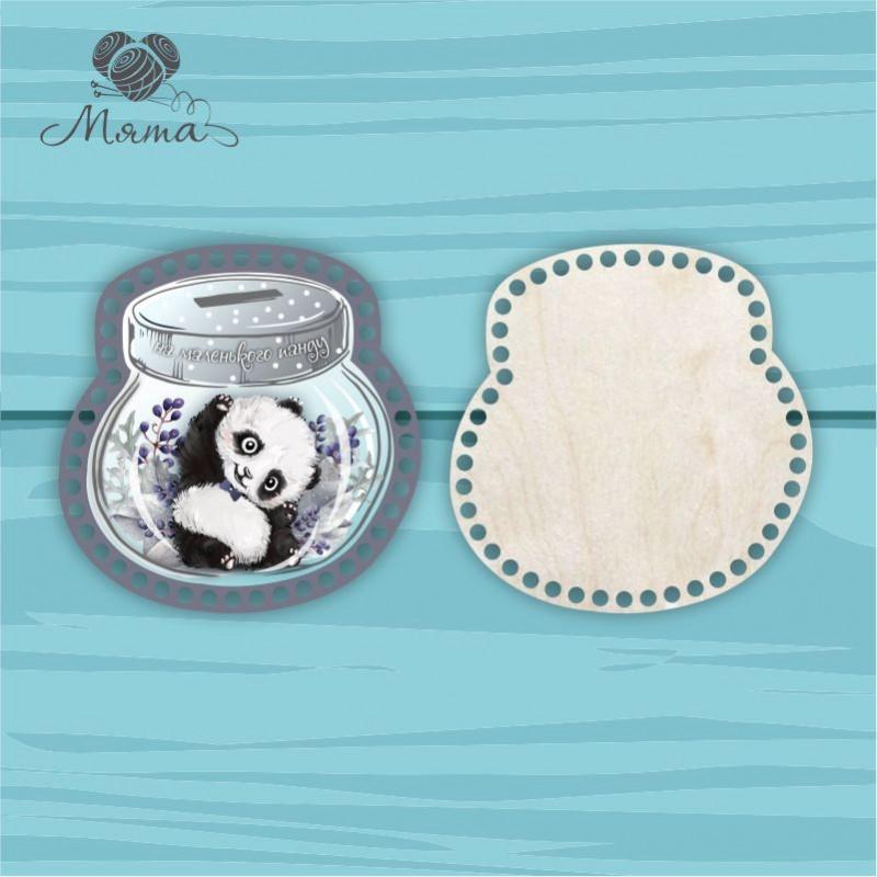Moneybox with color printing 20cm CP20№83 Panda boy (lid + bottom)