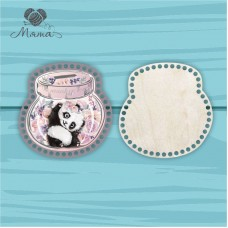 Moneybox with color print 20cm ЦП20№84 Panda girl (lid + bottom)
