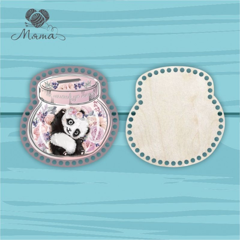Moneybox with color print 20cm ЦП20№84 Panda girl (lid + bottom)