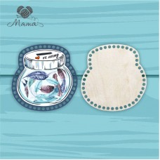 Moneybox with color printing 20cm CP20№78 Feathers (cover + bottom)