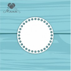 White plastic circle d=15 cm