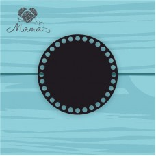 Black plastic circle d=15 cm