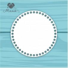 White plastic circle d=20 cm