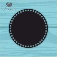 Black plastic circle d=20 cm