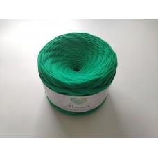 Green knitted yarn