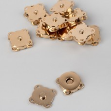 Magnetic sewn buttons, d = 18 mm, gold