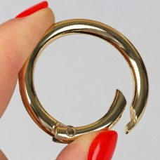 Carabiner ring, d = 32 mm, 4 mm, gold
