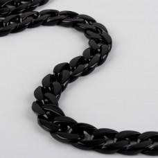 Bag chain, 20 × 20 mm, 120 cm, black