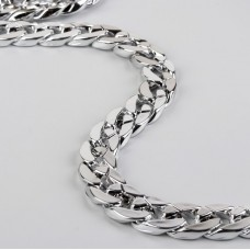 Bag chain, 20 × 20 mm, 120 cm, silver