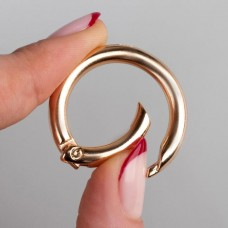 Carabiner ring, d = 25 mm, 5 mm, gold